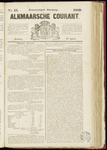Alkmaarsche Courant 1859-04-10