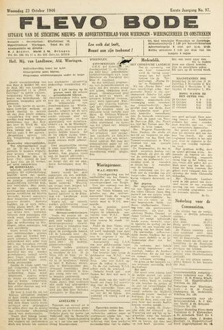 Flevo-bode: nieuwsblad voor Wieringen-Wieringermeer 1946-10-23