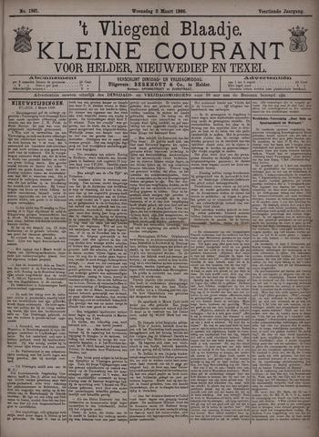 Vliegend blaadje : nieuws- en advertentiebode voor Den Helder 1886-03-03