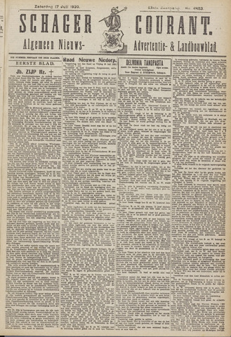 Schager Courant 1920-07-17