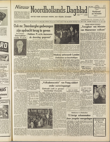Nieuw Noordhollandsch Dagblad : voor Alkmaar en omgeving 1951-02-26
