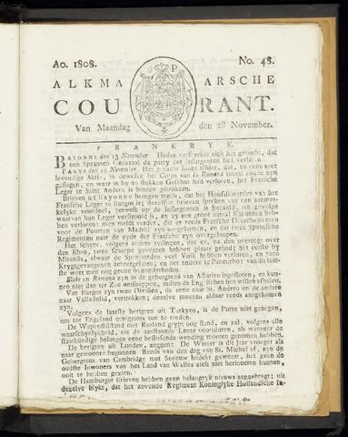 Alkmaarsche Courant 1808-11-28