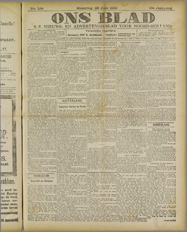 Ons Blad : katholiek nieuwsblad voor N-H 1919-06-23