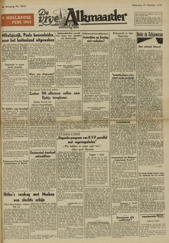 De Vrije Alkmaarder 1947-10-27