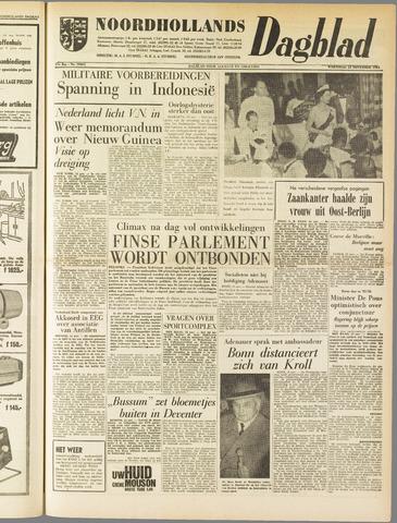 Noordhollands Dagblad : dagblad voor Alkmaar en omgeving 1961-11-15