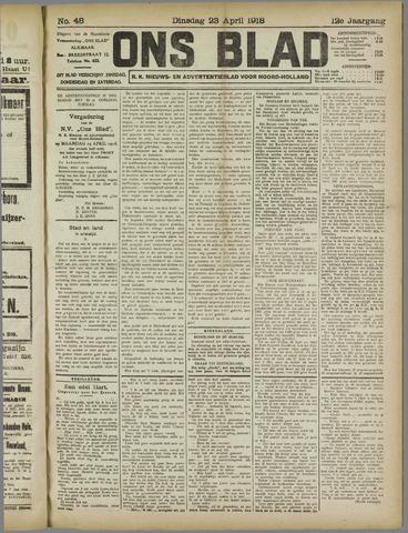 Ons Blad : katholiek nieuwsblad voor N-H 1918-04-23