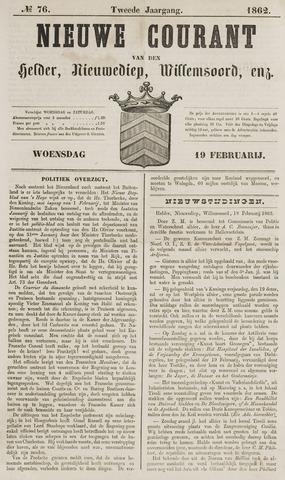 Nieuwe Courant van Den Helder 1862-02-19