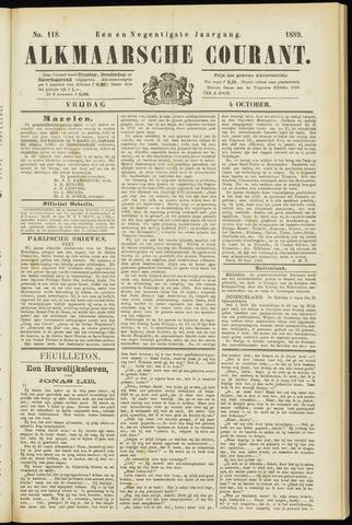 Alkmaarsche Courant 1889-10-04