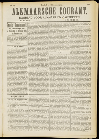 Alkmaarsche Courant 1913-11-10
