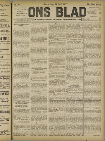 Ons Blad : katholiek nieuwsblad voor N-H 1917-07-21