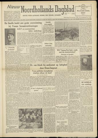 Nieuw Noordhollandsch Dagblad : voor Alkmaar en omgeving 1948-11-08