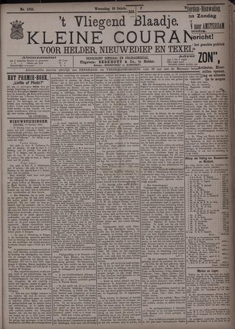 Vliegend blaadje : nieuws- en advertentiebode voor Den Helder 1887-10-19