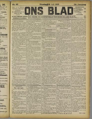 Ons Blad : katholiek nieuwsblad voor N-H 1918-07-23