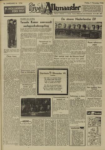 De Vrije Alkmaarder 1949-11-04
