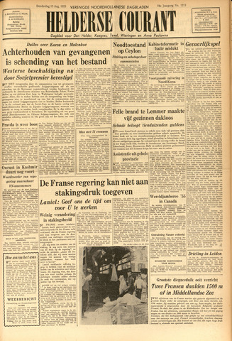 Heldersche Courant 1953-08-13