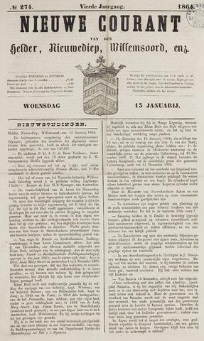 Nieuwe Courant van Den Helder 1864-01-13