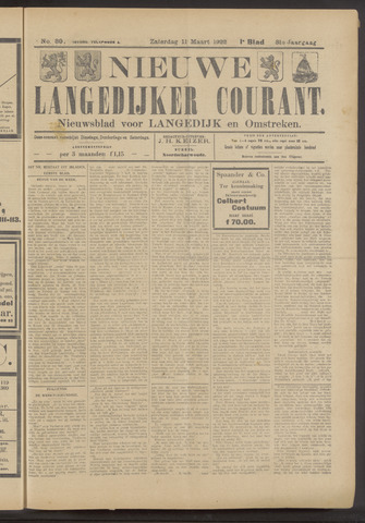 Nieuwe Langedijker Courant 1922-03-11