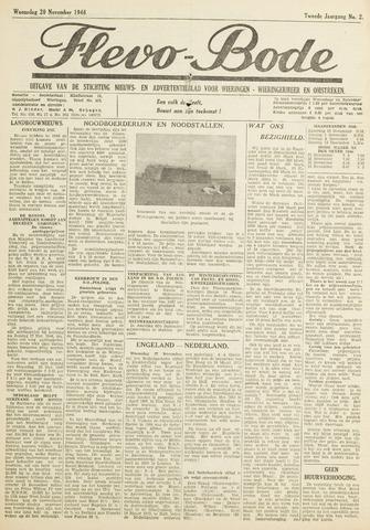 Flevo-bode: nieuwsblad voor Wieringen-Wieringermeer 1946-11-20
