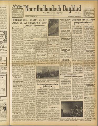 Nieuw Noordhollandsch Dagblad : voor Alkmaar en omgeving 1947-02-08