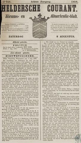 Heldersche Courant 1868-08-08