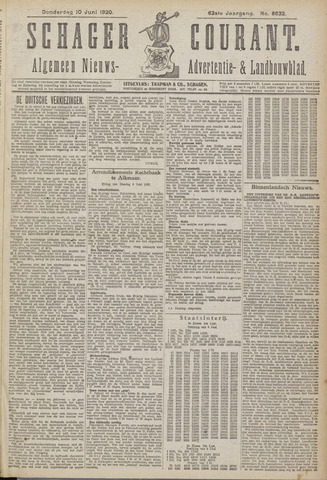 Schager Courant 1920-06-10