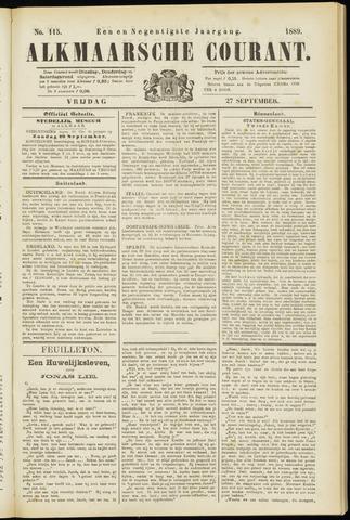 Alkmaarsche Courant 1889-09-27