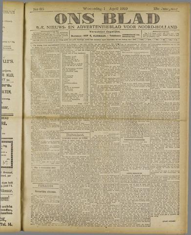 Ons Blad : katholiek nieuwsblad voor N-H 1919-04-16