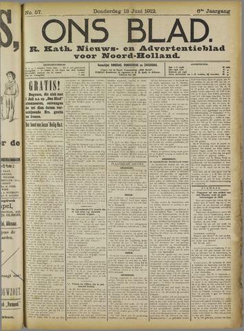 Ons Blad : katholiek nieuwsblad voor N-H 1912-06-13