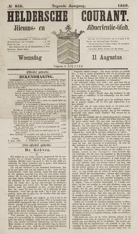 Heldersche Courant 1869-08-11