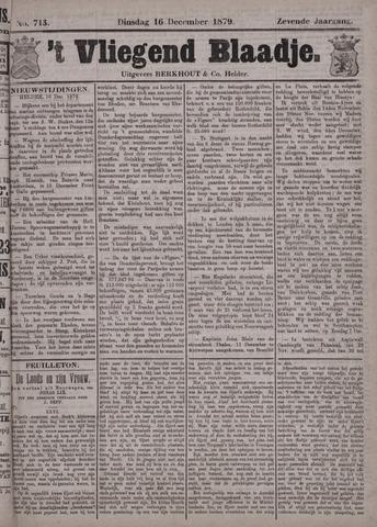 Vliegend blaadje : nieuws- en advertentiebode voor Den Helder 1879-12-16