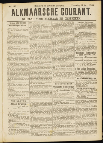 Alkmaarsche Courant 1905-10-14