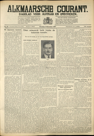 Alkmaarsche Courant 1937-11-02
