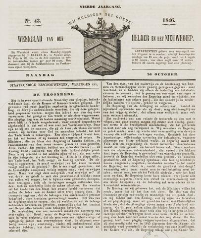Weekblad van Den Helder en het Nieuwediep 1846-10-26
