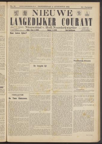 Nieuwe Langedijker Courant 1932-08-04