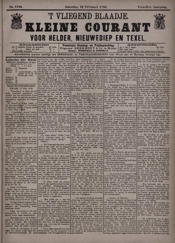 Vliegend blaadje : nieuws- en advertentiebode voor Den Helder 1884-02-16