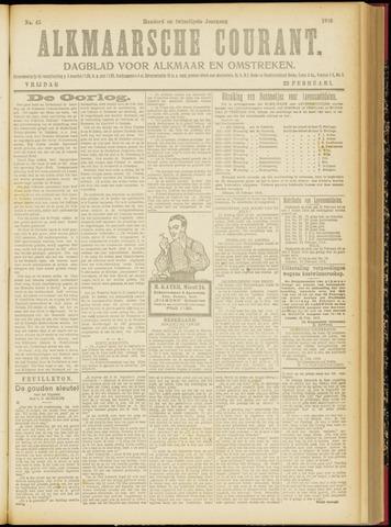 Alkmaarsche Courant 1918-02-22