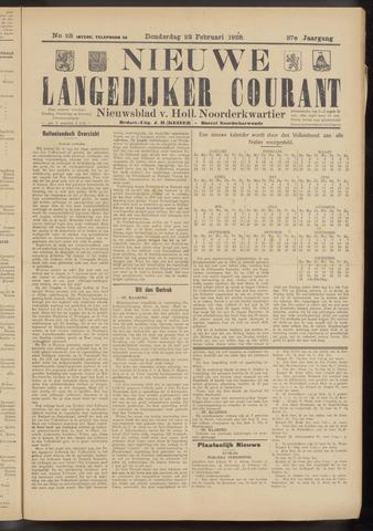 Nieuwe Langedijker Courant 1928-02-23
