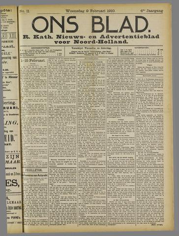Ons Blad : katholiek nieuwsblad voor N-H 1910-02-09