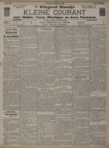 Vliegend blaadje : nieuws- en advertentiebode voor Den Helder 1909-02-13