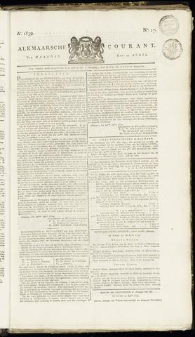 Alkmaarsche Courant 1839-04-29