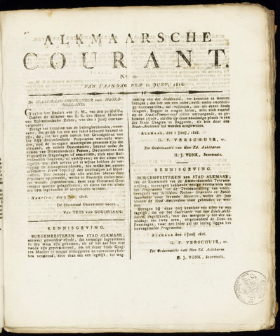 Alkmaarsche Courant 1816-06-10