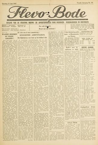 Flevo-bode: nieuwsblad voor Wieringen-Wieringermeer 1947-06-21