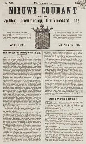 Nieuwe Courant van Den Helder 1864-11-26