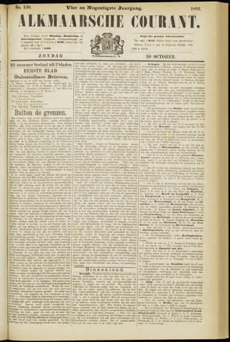Alkmaarsche Courant 1892-10-30