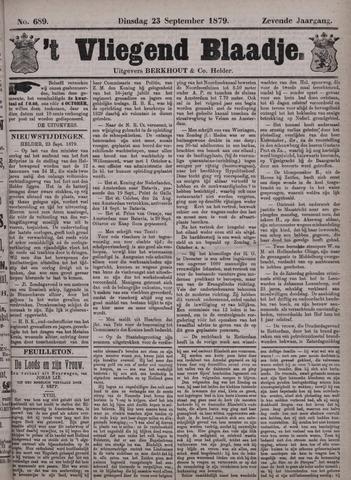 Vliegend blaadje : nieuws- en advertentiebode voor Den Helder 1879-09-23