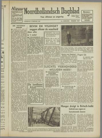 Nieuw Noordhollandsch Dagblad : voor Alkmaar en omgeving 1946-02-02