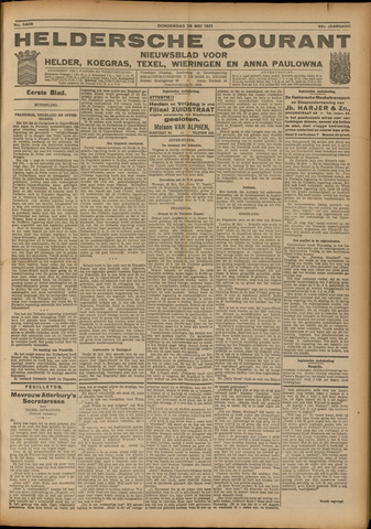 Heldersche Courant 1921-05-26