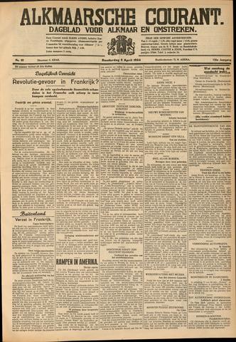 Alkmaarsche Courant 1934-04-05