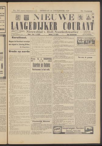 Nieuwe Langedijker Courant 1929-12-24