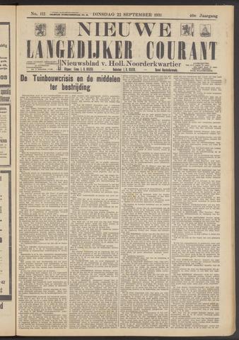 Nieuwe Langedijker Courant 1931-09-22